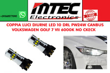 COPPIA LUCI DIURNE LED 10 DRL PW24W CANBUS VOLKSWAGEN GOLF 7 VII 6000K NO CKECK