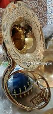 """SOUSAPHONE OF PURE BRASS 22"""" BELL SIZE IN BRASS GOLD WITH FREE BAG & MOUTHPC"""