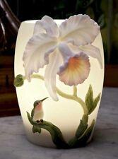 Cattleya & Hummingbird Tropical Floral Night Light Lamp