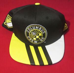 New, Super Nice Adidas Adjustable Sewn MLS Columbus Crew Hat
