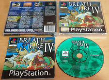 BREATH OF FIRE IV 4 for SONY PS1 PLAYSTATION 1 COMPLETE & NEAR MINT Capcom