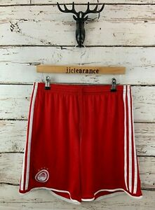 ADIDAS OLYMPIACOS Mens Shorts L Large W34 L7 Red Polyester