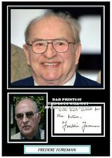 (#95) freddie foreman signed a4 photograph (reprint) the krays great gift ######