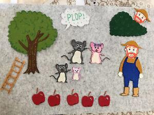 FELT BOARD STORY TEACHER RESOURCE - MR BROWNS MAGNIFICENT APPLE TREE