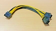 20cm PCI-E - Dual 6 Pin Female to Single 8 Pin Male Graphics Power Cable Adapter