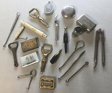 DEALERS LOT 21 PIECES - SNUFF BOX, TIN, BOTTLE OPENER, VESTA CASE & BUTTON HOOKS