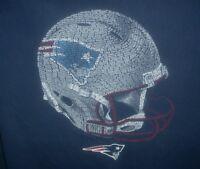 New England Patriots NFL Team Apparel Helmet T Shirt Men's Size Large Navy Blue