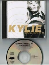 """KYLIE MINOGUE What Do I Have To Do JAPAN 3-track 5"""" MAXI CD ALCB-187 w/PS FreeSH"""