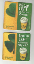 Lot Of 5 2004 Harp Lager Beer Coasters=-Diageo-Guiness USA 1/2 way to St. Pats