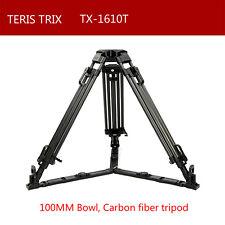 Teris TX-1610T 100mm bowl Carbon Fiber Video Camera Tripod for TILTA Rig SCARLET