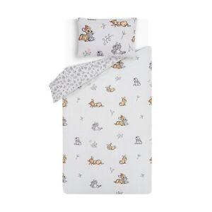 Disney Bambi & Thumper Easy Care Reversible Single Duvet Bedding Bed Set Flower