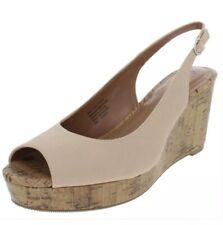 Style & Co. Womens Sondire Beige Slingback Sandals 7.5 Medium (B,M) F0081 Nude