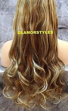 "22"" BROWN #18-613 FLIP IN SECRET CLEAR WIRE HAIR PIECE EXTENSIONS NO CLIP IN/ON"
