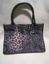 Neiman Marcus Purple & Black Leopard Print Suede Bag