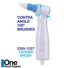 Dental Disposable Prophy Angles Tapered Brushes 100 Pcs