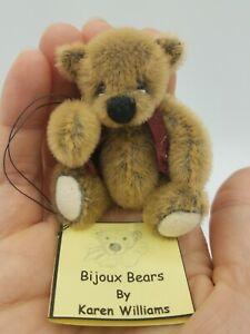 "Bijoux Bears Karen Williams OOAK Artist Bear 3"" ""JOEL"""