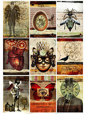 Stunning Steampunk Life Card Making Toppers / Embellishment Decorations