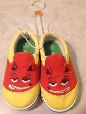 Disney ZOOTOPIA  children's Shoes Canvas slip on SHOES unisex NWOT size 8