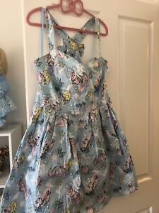 Hell Bunny Dress Mermaid Print Large