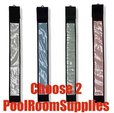 2 x Pool Snooker Billiard Cue Sleeve Case Black Blue Green or Red CLEARANCE SALE