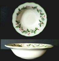 ST. NICHOLAS SQUARE HOLLY BERRY CEREAL BOWL NWOB