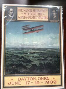 1909 Wright Brothers  Celebration poster