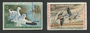 Lot of 2 Hunting Permit Stamps - Used - Scott RW37 and RW39