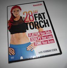 The 28 Day Fat Torch Workout (2 DVD Set NEW) Hannah Eden Fitness Women's Health