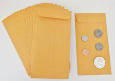 100 New Kraft Coin Envelopes 3 12 X 6 12 20lb Manila Coins Not Included