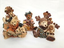 """Lot (5) Boyds Bears Bearstone Collection Figurines with Boxes- """"Scardy Cat"""""""