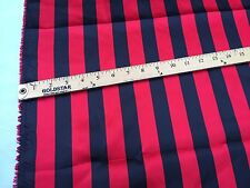 Red/black 1inch Stripe Soft/silky Charmeuse Satin Fabric. Sold By The Yard.