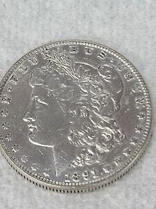 Morgan S silver dollar 1891