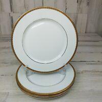 5 St Nicholas Square Laurel Gold Dinner Plates Porcelain 18 Karat Gold Band
