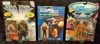 Vintage Star Trek The Next Generation Action Figure Lot of 3 1988 New In Package