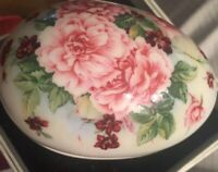 Ceramic Bone China Easter Egg Flower Trinket Dish Lady Jane
