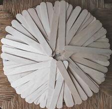 100 Lolly Craft Sticks Wooden Lollipop Natural Wood 150 x 19 mm