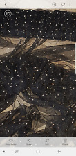"""2M BLACK/GOLD BEADED PEARL   TULLE LACE BRIDAL FABRIC 58"""" WIDE"""