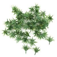 50pcs Plante Herbe de l'épée pour Maquette Trains Paysage 3.3cm Vert