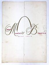 Vintage STAN MUSIAL & BIGGIE'S Restaurant Menu ST LOUIS Ivanhoe Miami Beach
