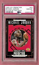 1995 Upper Deck Predictor #H3 Michael Jordan PSA 10 Gem Mint Bulls POP 2