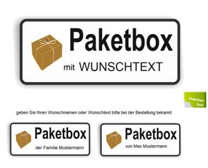 Paketbox Aufkleber mit Wunschtext Paket Box Kennzeichnung mit Wunschname  R34/14