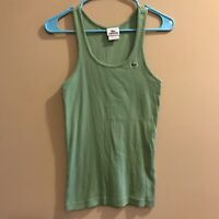 Lacoste Stretch Ribbed Tank Top Women's Size 38 M Medium Green