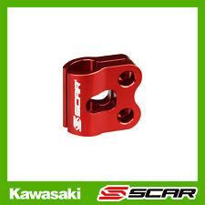 GUIDE FIXATION DURITE CABLE FREIN KAWASAKI KX KXF KLX 85 125 250 450 ROUGE SCAR