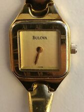 Working Ladies Gold Bulova Quartz Watch  AO