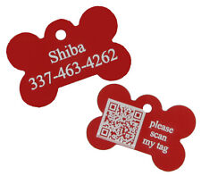 Geo Tracking System Pet ID Tag Dog Bone GPS Custom Personalized Laser Engraved