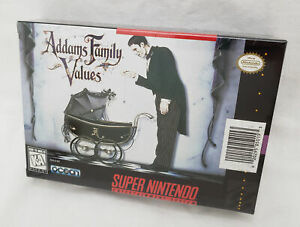 Addams Family Values SNES NEW SEALED VHS Pack-in Version Super Nintendo adams