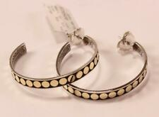 John Hardy Womens Dot 18k Yellow Gold & Sterling Silver Hoop Earrings