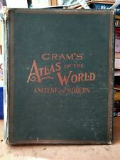 crams atlas of the world ancient and modern 1901 with war suppliment