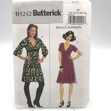 Butterick 5242 Womens Plus Size Knee Length or Above Knee Dress Size 16 24 Uncut