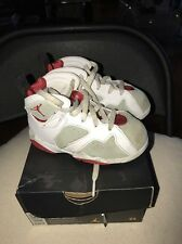 Jordan 7 Retro BT 8c White red Light Silver Trim EUC Youth